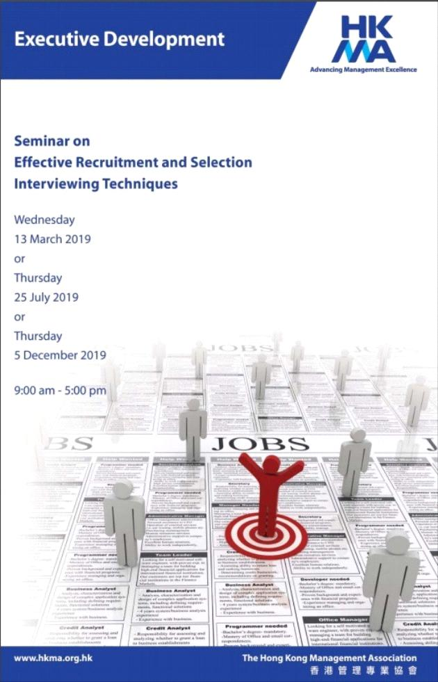 Seminar on Effective Recruitment and Selection Interviewing Techniques