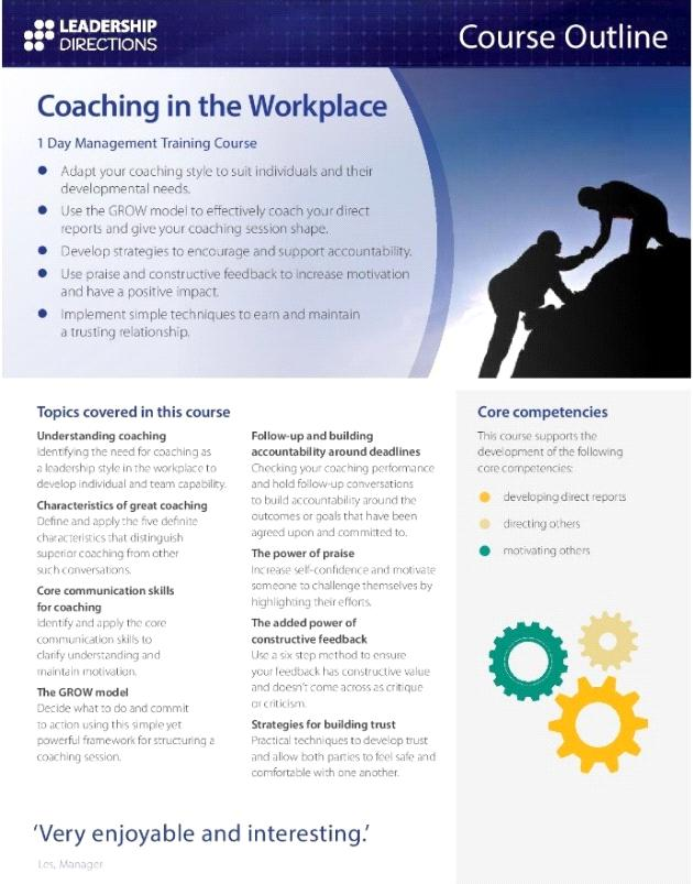 CPD Program - Leadership Directions: Coaching in the Workplace