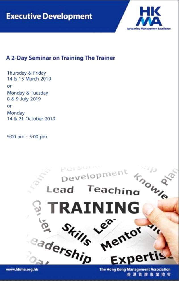 A 2-Day Workshop on Training the Trainer
