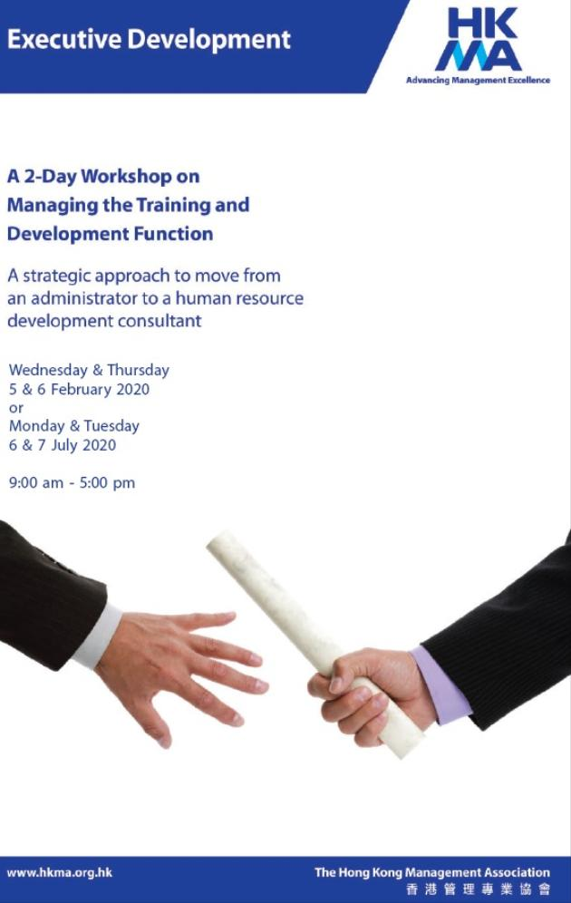 A 2-Day Workshop on Managing the Training and Development Function
