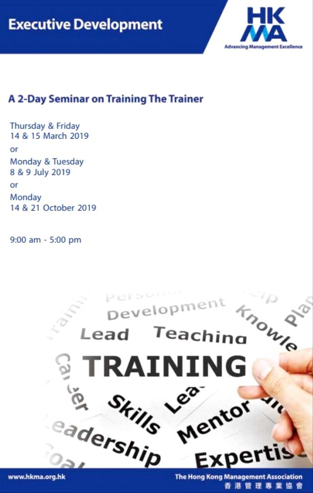 A 2-Day Seminar on Training the Trainer