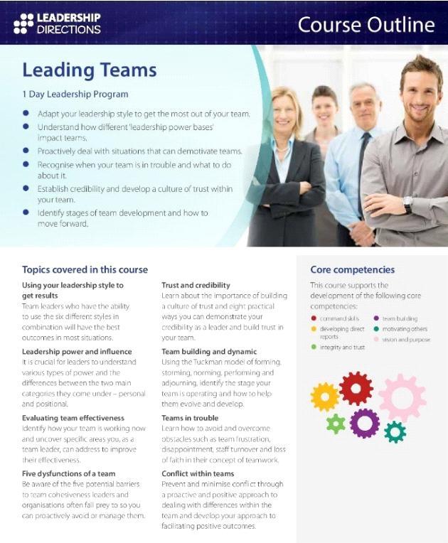 CPD Program - Leadership Directions: Leading Teams