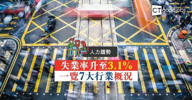 【人力趨勢】整體失業率升至3.1%  一覽7大行業概況