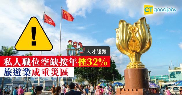 【人力趨勢】私人職位空缺按年挫32%  旅遊業成重災區