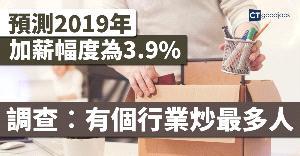 明年加薪幅度預測為3.9%  邊個行業炒最多人?