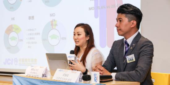 職業心理學家陳曉翎(左)及半島青年商會會長雲騰龍(右)